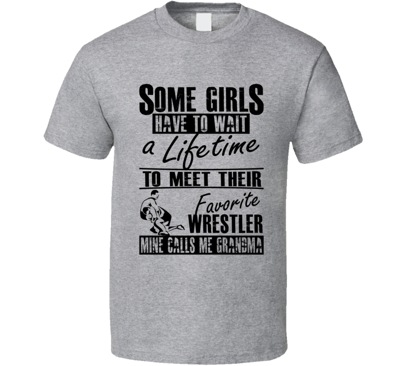 My Grandson Is My Favorite Wrestler Wrestling Grandma T Shirt