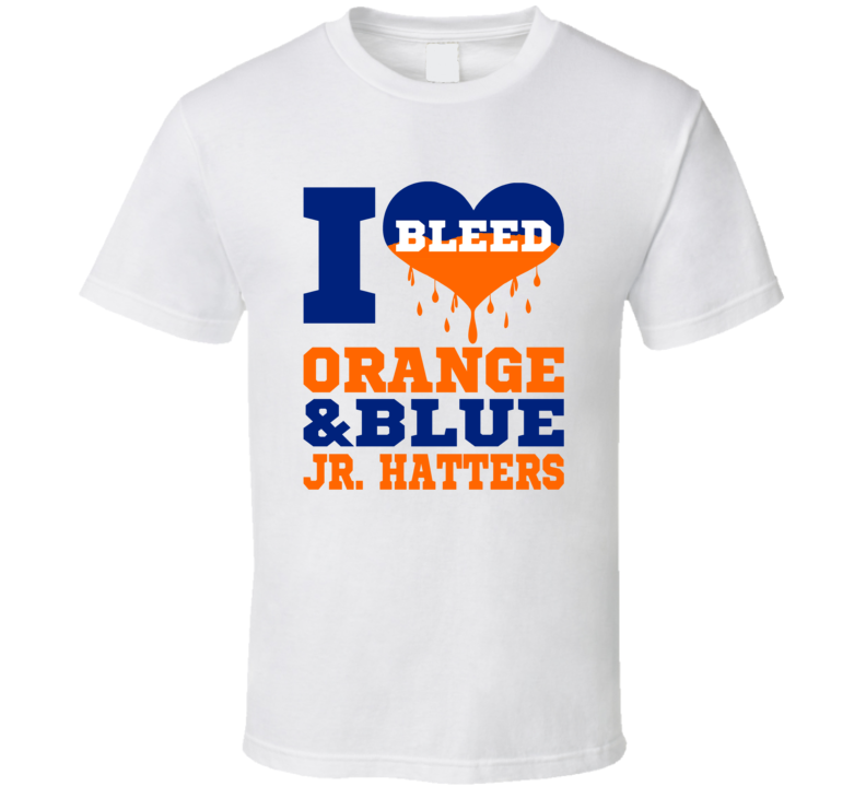 I Bleed Orange And Blue  T Shirt
