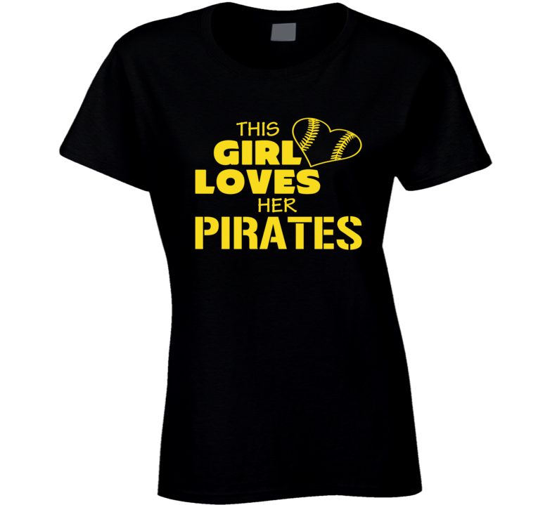 This Girls Loves Her Mets Pirates Heart T Shirt
