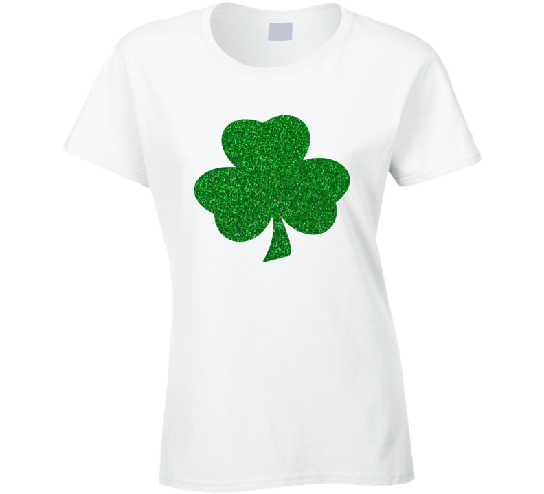 Irish Shamrock Glitter Green St Patrick's Day T Shirt