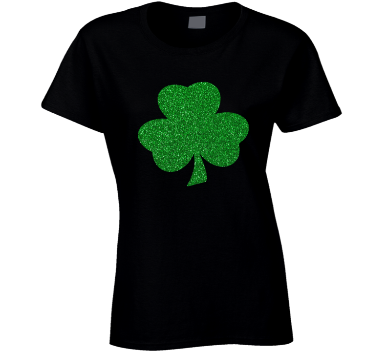 Irish Shamrock Glitter Green Saintt Patrick's Day T Shirt