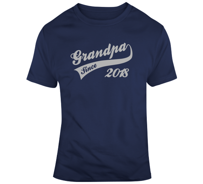 Fathers Day Granpda Since 2018 T Shirt