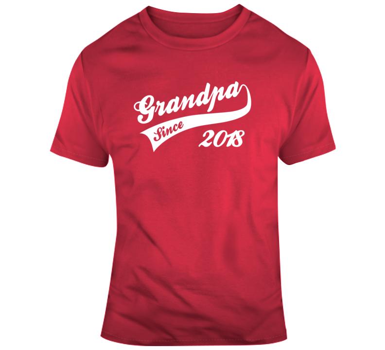Fathers Day Grandpa Since 2018 T Shirt