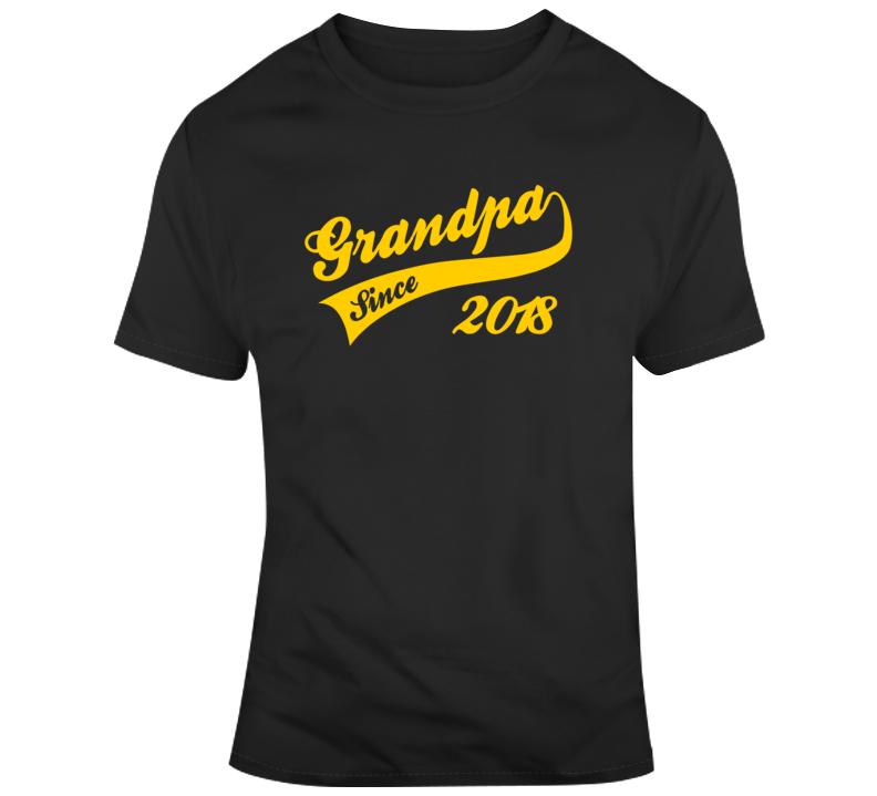 Grandpa Since 2018 Fathers Day  T Shirt