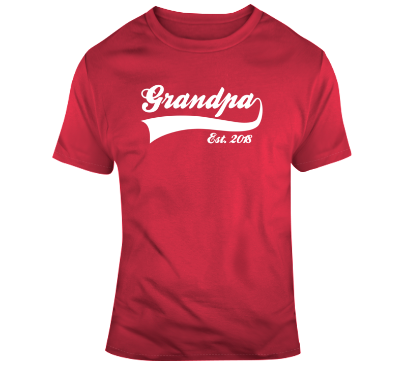 Fathers Day Grandpa Established 2018 T Shirt