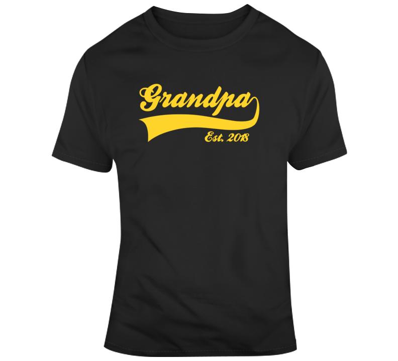 Grandpa Established 2018 Fathers Day T Shirt