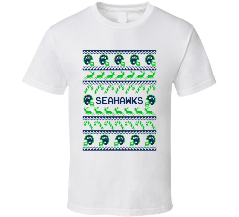 seahawks football ugly christmas sweater t shirt seattle seahawks team colors - Seahawks Christmas Sweater