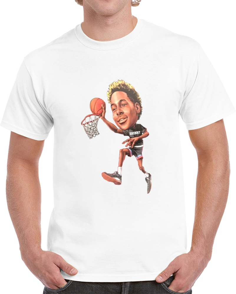 Bronny James Cartoon First Dunk Big Head Lebron Warm Up Shirt