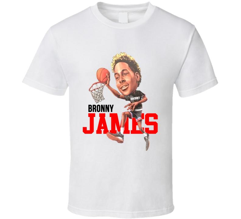 Bronny James First Dunk Warm Up Lebron Basketball T Shirt