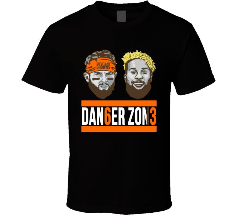 Danger Zone Odell Beckham Baker Mayfield Cleveland Browns Football T Shirt