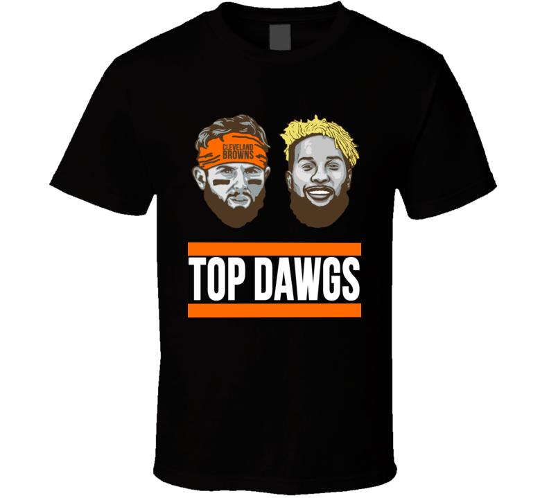 Top Dawgs Cleveland Browns Odell Beckham Jr Baker Mayfield Football T Shirt