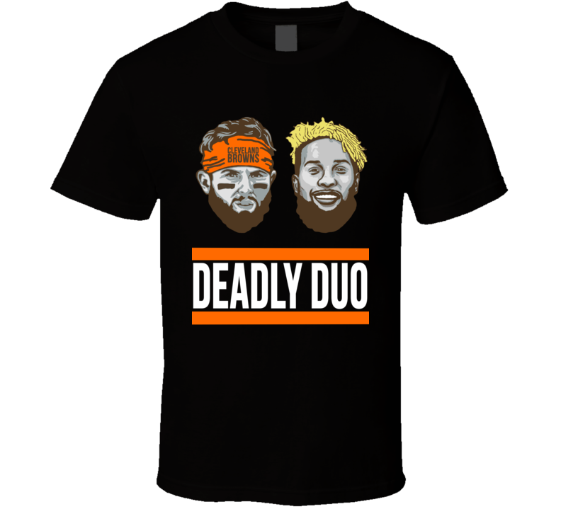 Deadly Duo Odell Beckham Baker Mayfield Cleveland Browns Dawg Pound T Shirt