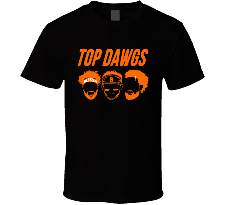 Top Dawgs Jarvis Landry Odell Beckham Baker Mayfield Cleveland Browns T Shirt