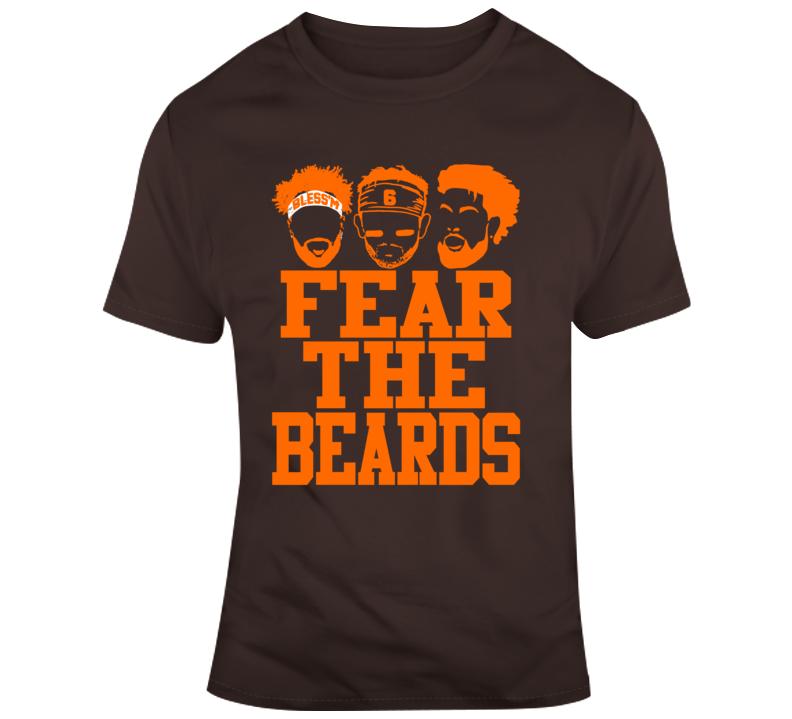 Fear The Beards Jarvis Landry Odell Beckham Baker Mayfield Cleveland Browns T Shirt