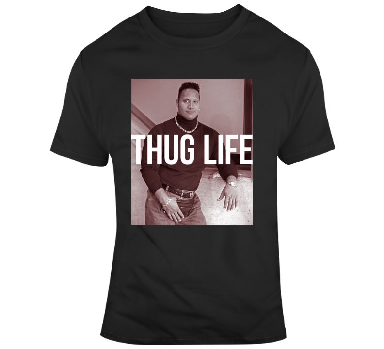 Thug Life Dwayne The Rock Johnson Toronto Baseball Bare Hand Catch T Shirt