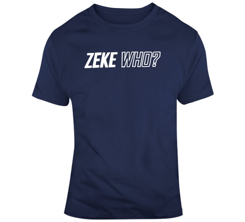 Zeke Who Ezekiel Elliott Running Back Football Dallas Cowboy T Shirt