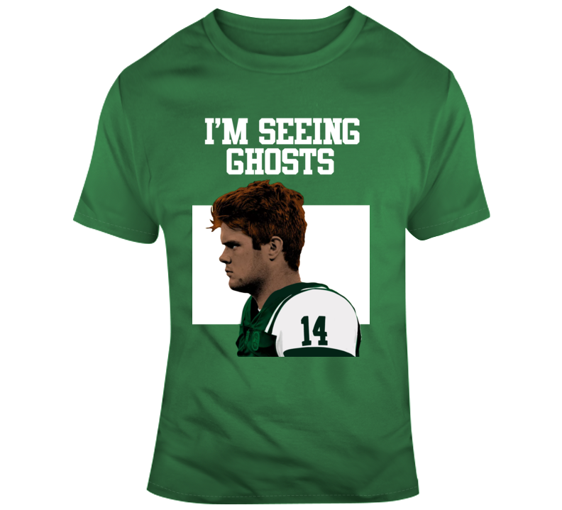 Im Seeing Ghosts Sam Darnold New York Jets Quartback Funny Football T Shirt