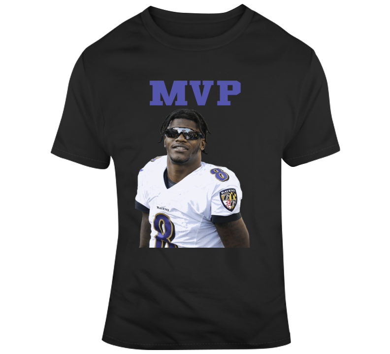 Lamar Jackson Mvp Baltimore Ravens Qb Funny Glasses Football T Shirt
