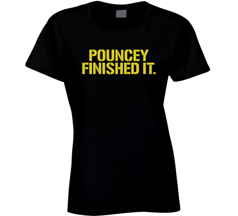 Maurkice Pouncey Pittsburgh Steelers Brawl Cleveland Finished It Funny Football Ladies T Shirt