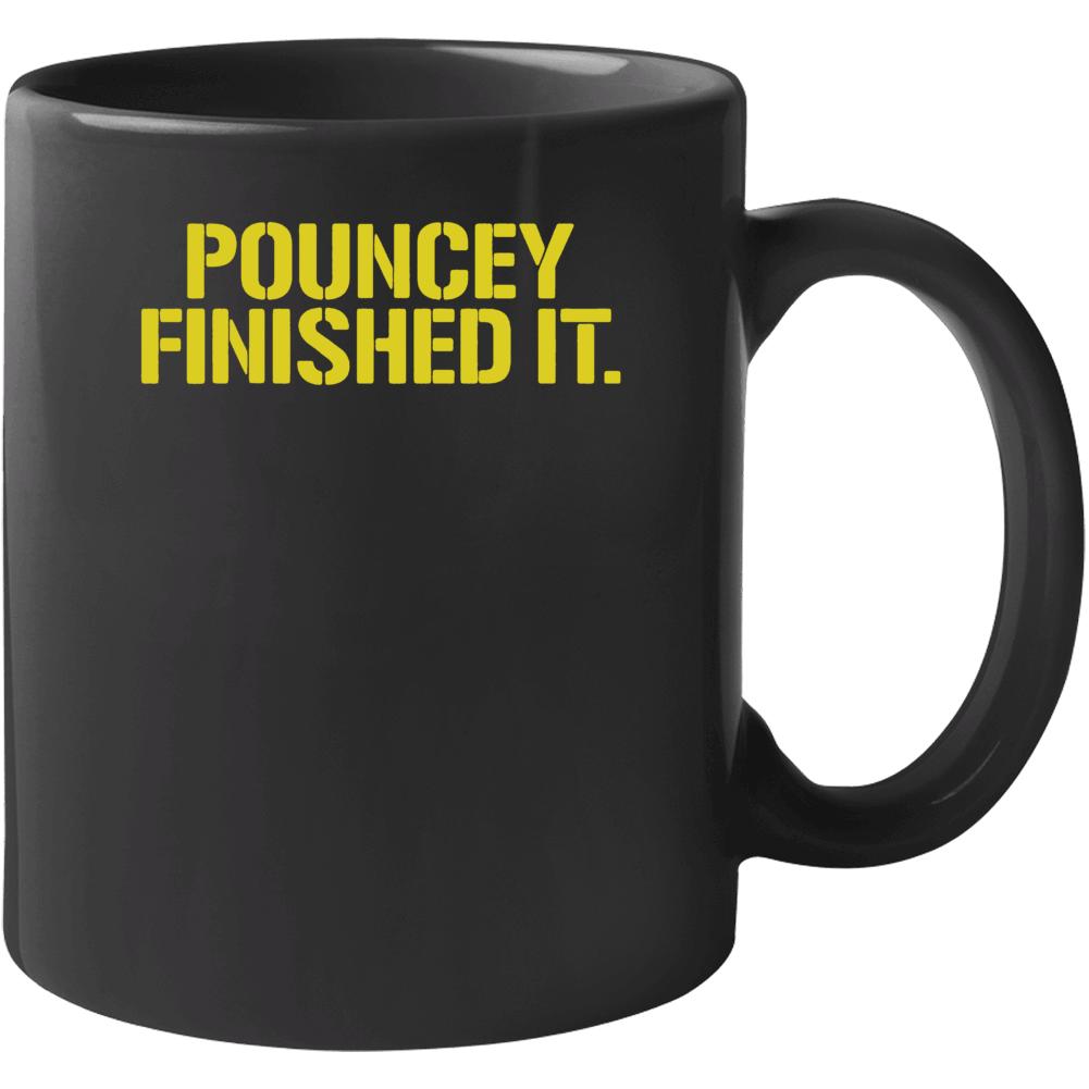 Maurkice Pouncey Pittsburgh Steelers Brawl Cleveland Finished It Funny Football Mug