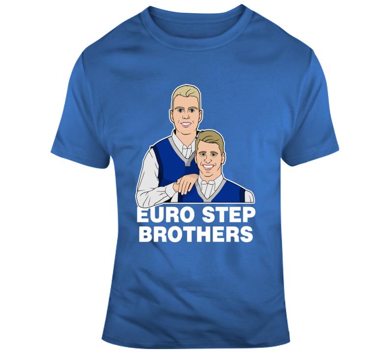 Luka Doncic Kristaps Porzingis Dallas Mavericks Basketball Euro Step Brothers Funny Basketball T Shirt