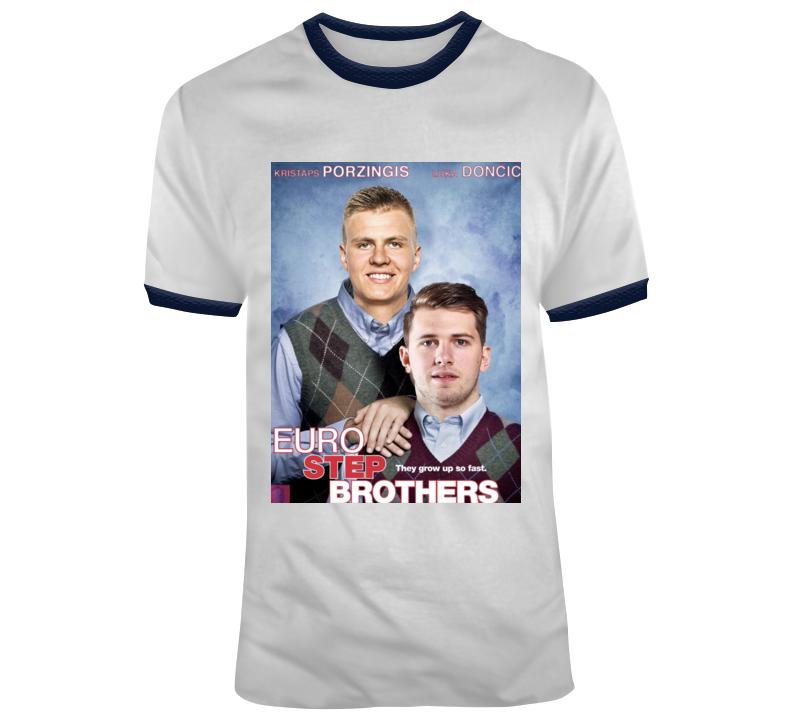Luka Doncic Kristaps Porzingis Dallas Mavs Euro Step Brothers T Shirt