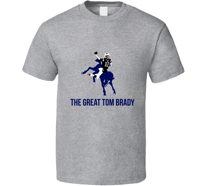 The Great Tom Brady Playoff Facebook Art War Colts Patriots T Shirt
