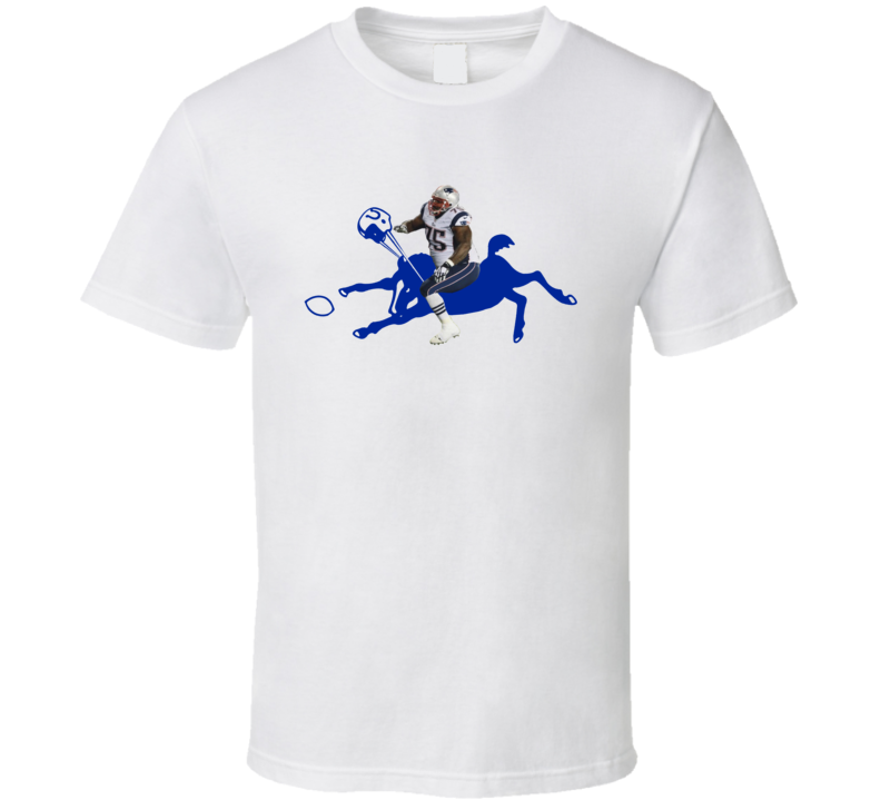 Vince Wilfork Crushing Colt New England AFC Champions T Shirt