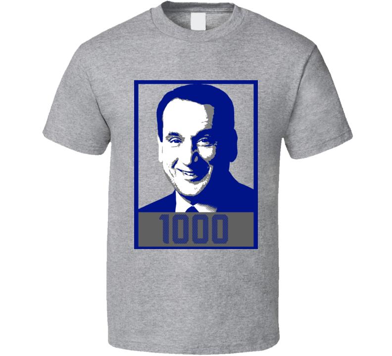 Coach Mike Krzyzewski Coach K 1000 Wins T Shirt