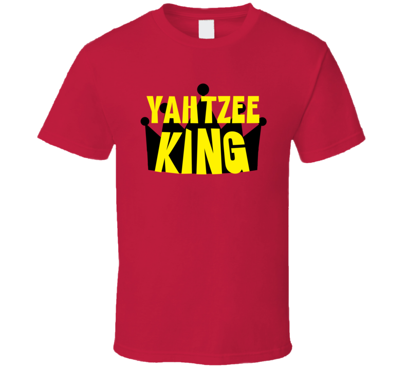 Yahtzee King Sports And Hobbies Master T Shirt