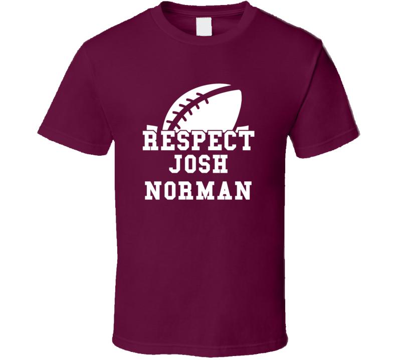 Alstyle Respect Josh Norman Washington Football Game Day T Shirt Unisex Tshirt