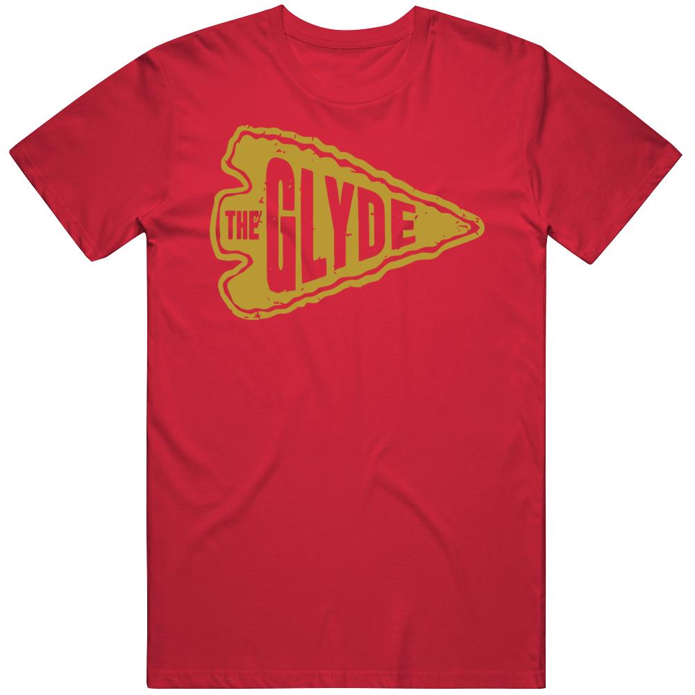 Clyde The Glyde Edwards Kansas City Football T Shirt