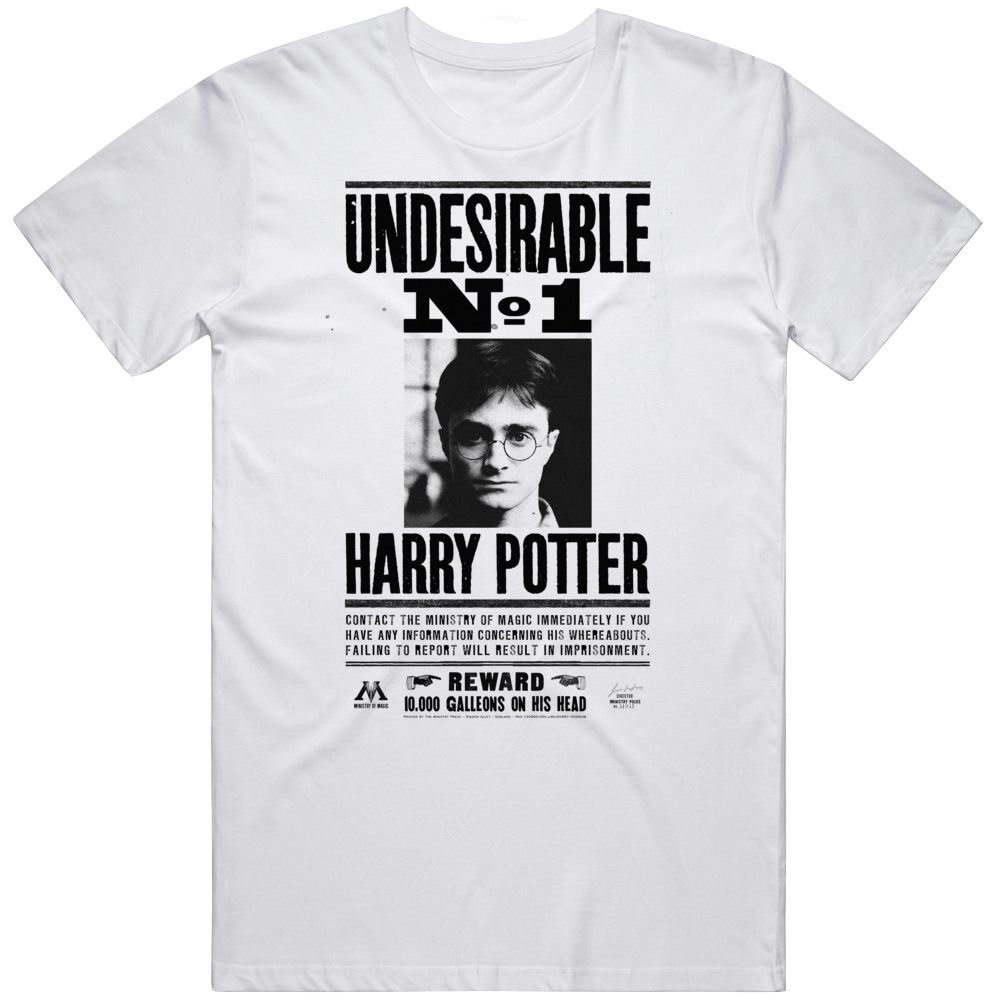 Undesirable Number 1 Harry Potter Funny T Shirt