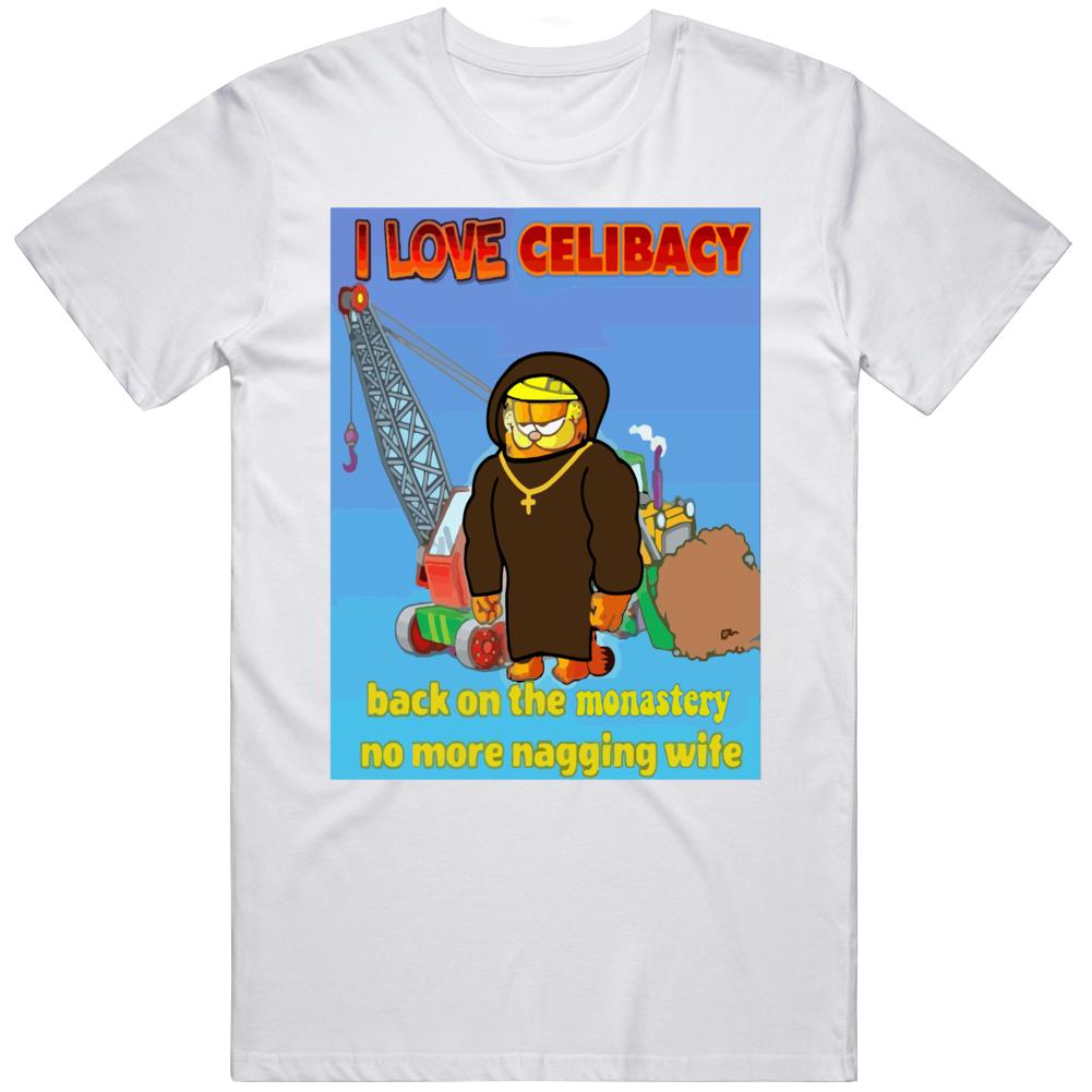 Garfield I Love Celibacy Meme T Shirt