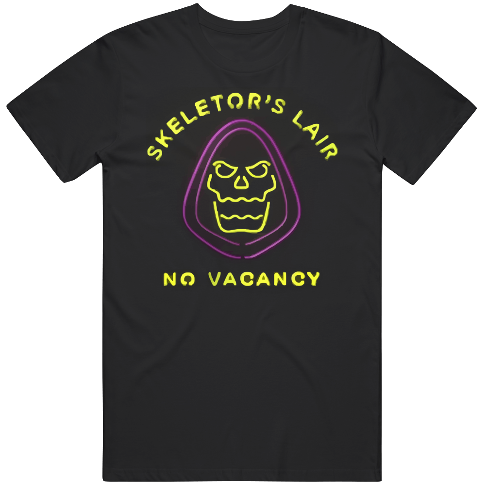Skeletor's Lair No Vacancy He-man Masters Of The Universe T Shirt