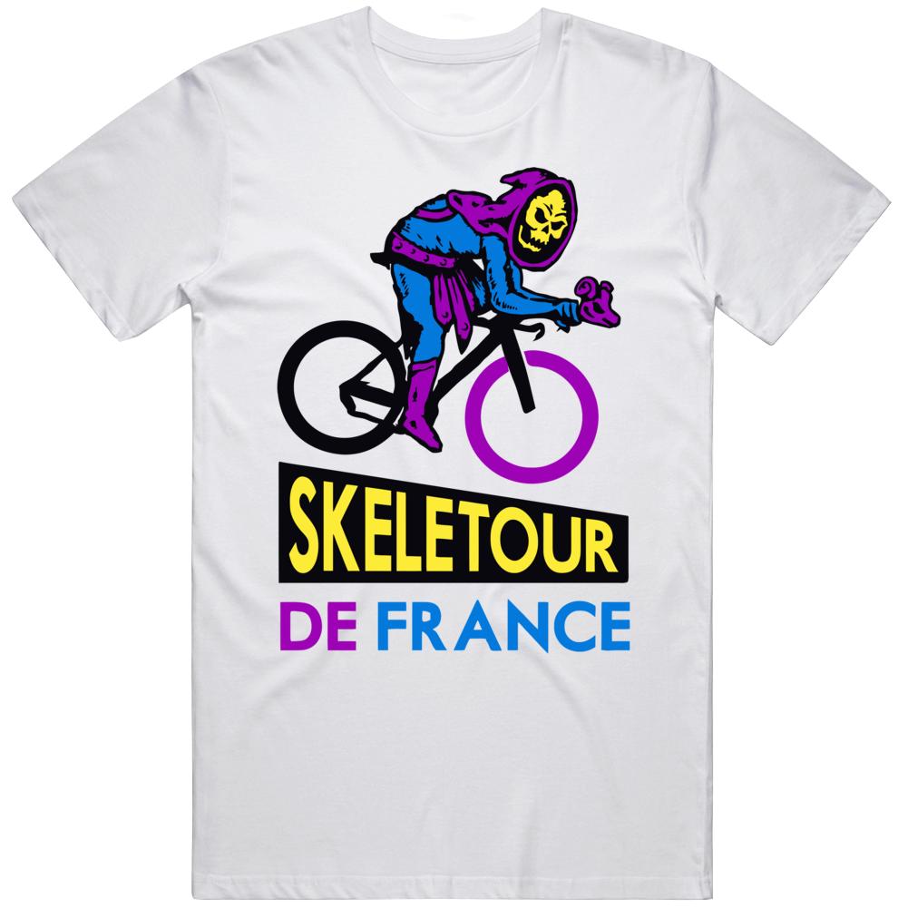 Skeletour De France He-man Skeletor Masters Of The Universe Cycling T Shirt