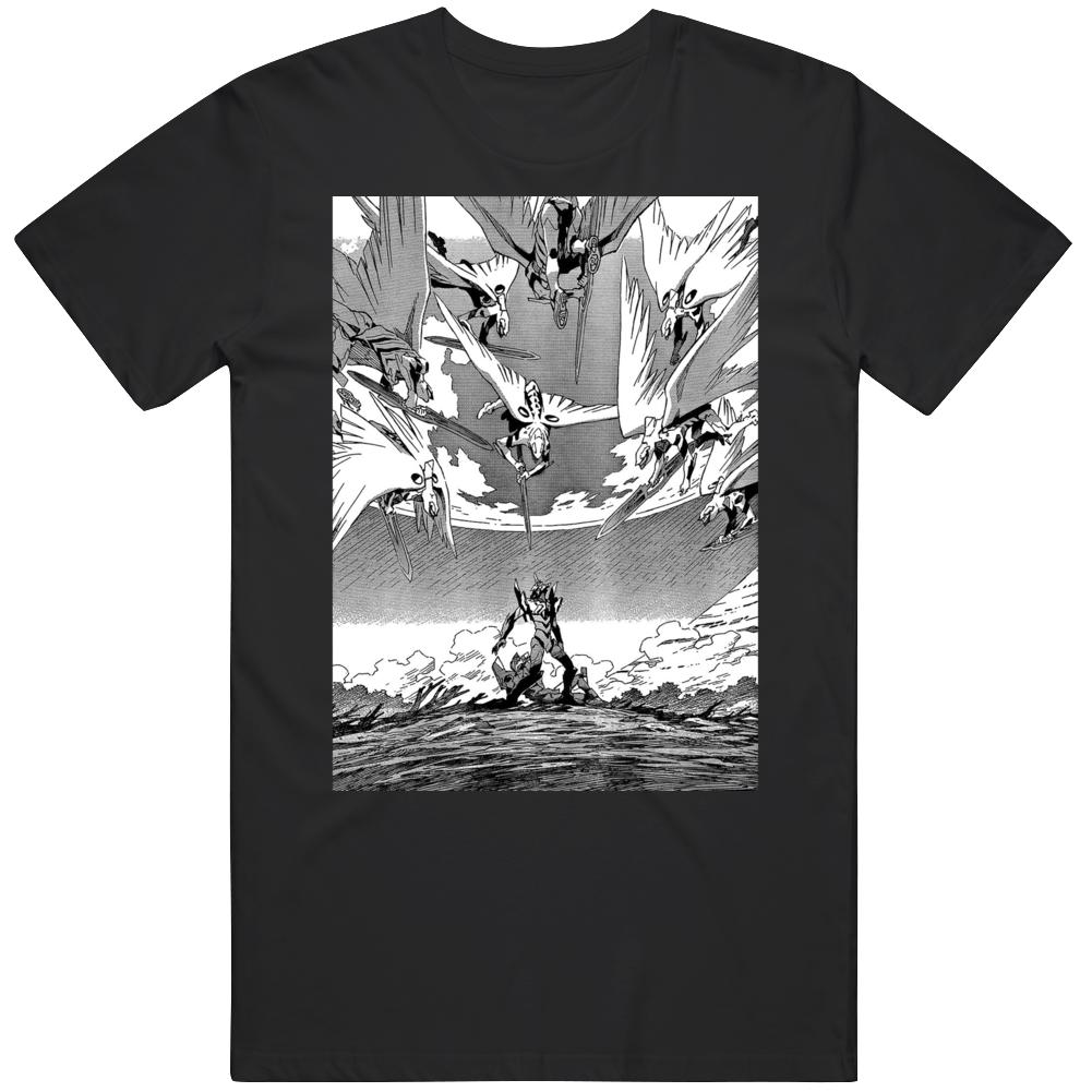 Neon Genesis Eva Angel Attack Manga Panel T Shirt