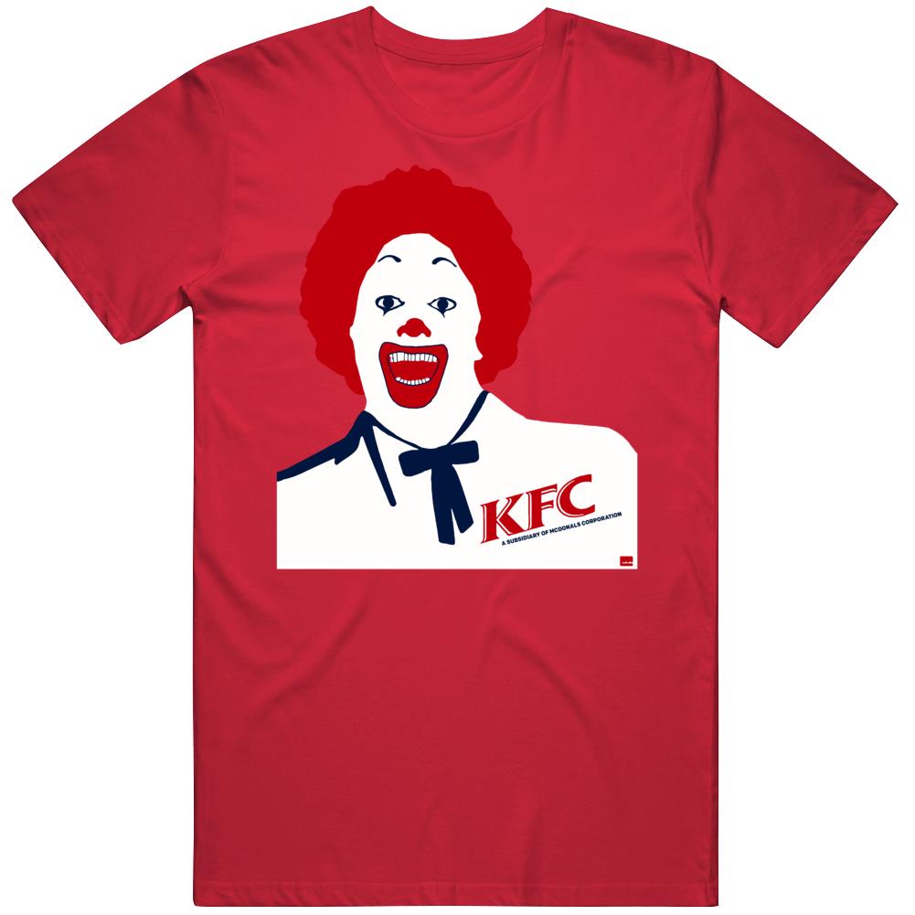 Kfc Mcdonald's Fried Chicken Colonel Sanders Parody T Shirt