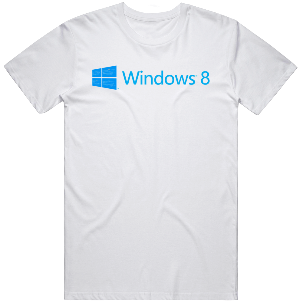 Windows 8 Error Screen Update Pc Pain Parody T Shirt