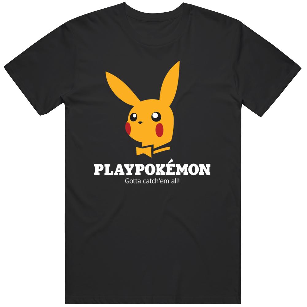 Play Pokemon Cartoon Playboy Parody T Shirt