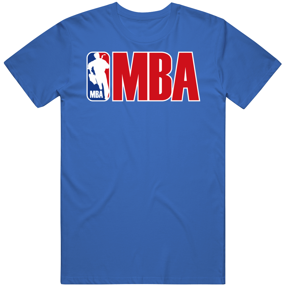 Mba University College School Studies Nba Basketball Parody T Shirt