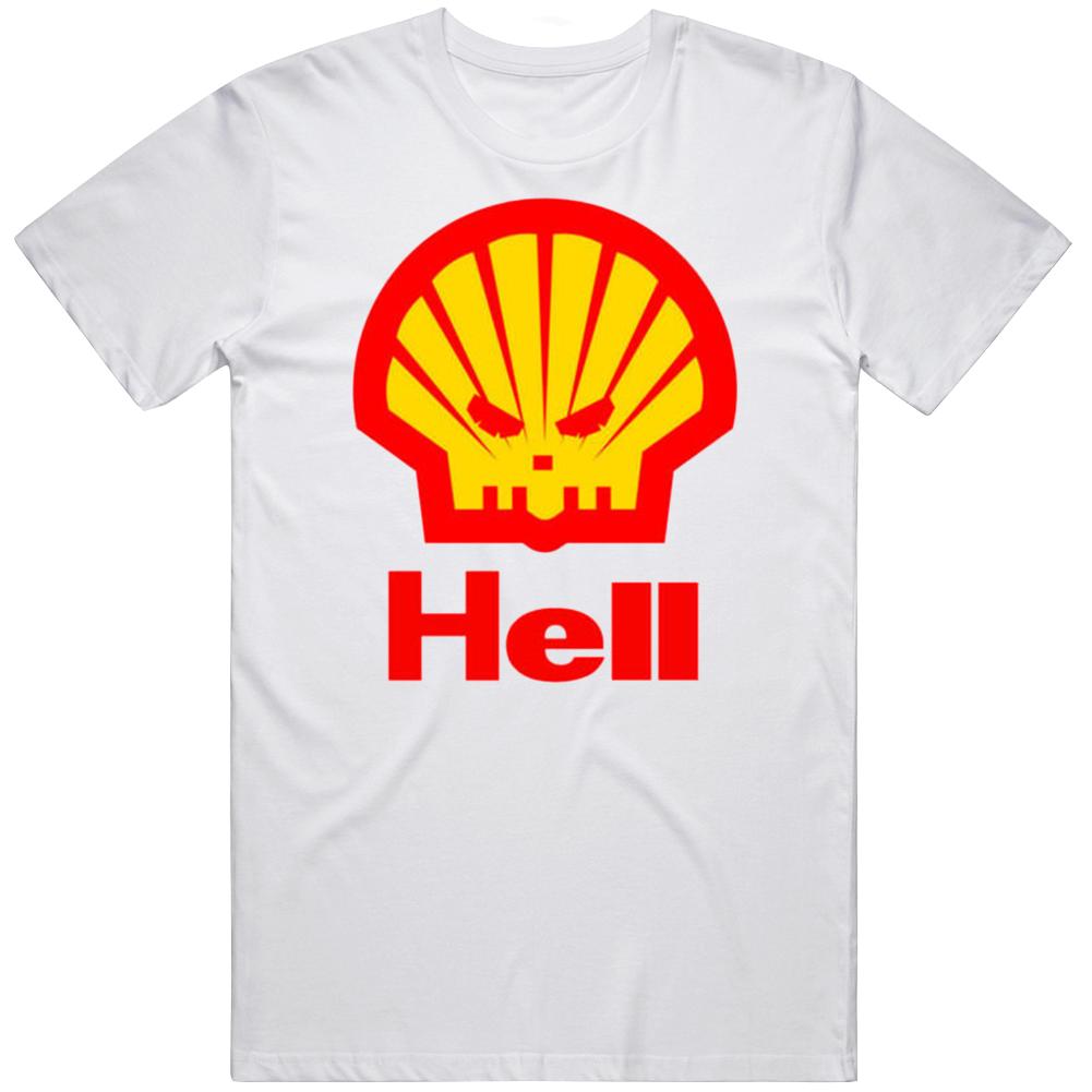 Hell Shell Gas Station Parody T Shirt