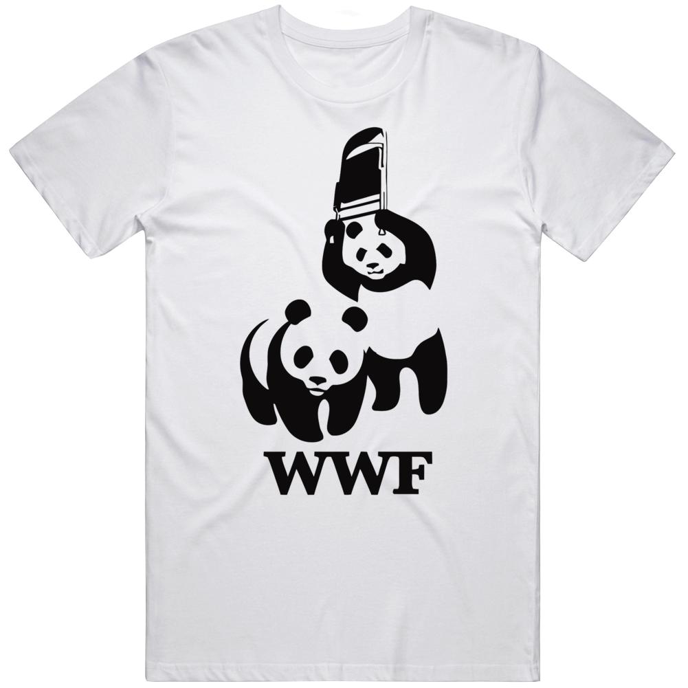 World Wildlife Foundation Wwf Wrestling Parody Panda T Shirt