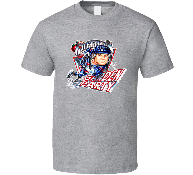 Wayne Gretzky New York Hockey Caricature T Shirt
