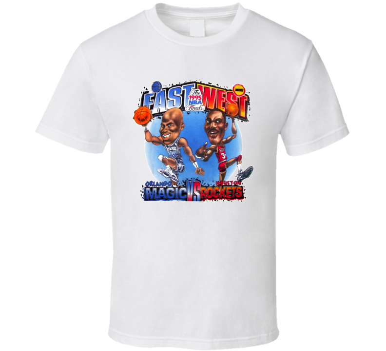1995 Basketball Finals Houston Vs Orlando Caricature T Shirt