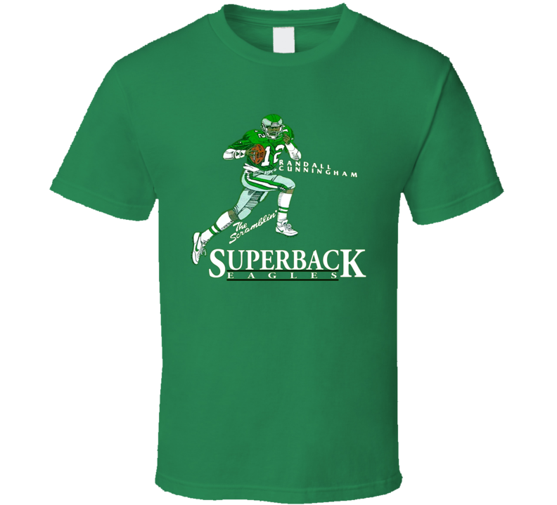 Randall Cunningham Retro Football Caricature T Shirt