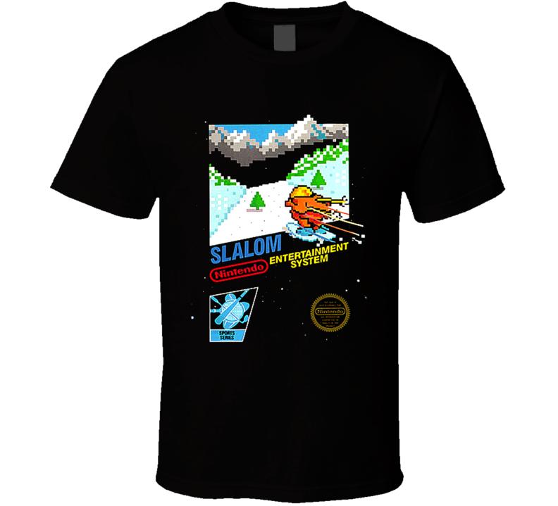Slalom Classic Nintendo Video Game Box Art T Shirt