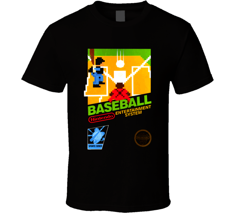 Baseball Classic Nintendo Video Game Box Art T Shirt