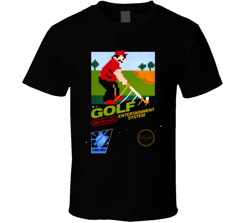 Golf Classic Nintendo Video Game Box Art T Shirt