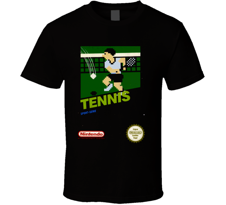 Tennis NES Classic Nintendo Video Game Box Art T Shirt